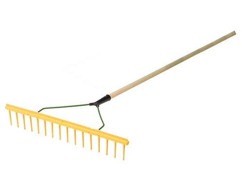 "16p Yellow Maintenance Rake 72"" Hardwood Handle"