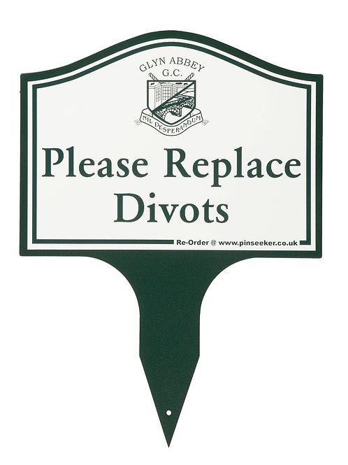 Single Spike Golf Etiquette Sign