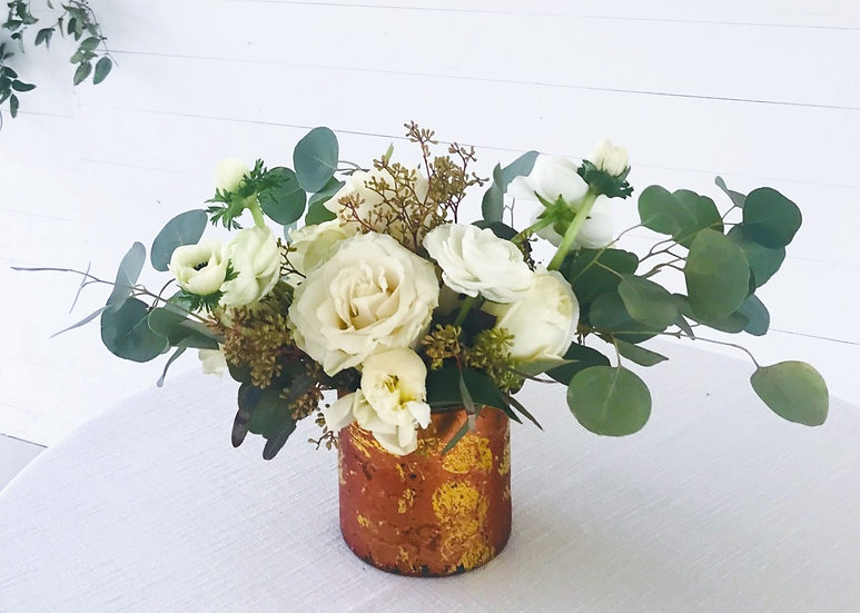 Classic White & Green Arrangement