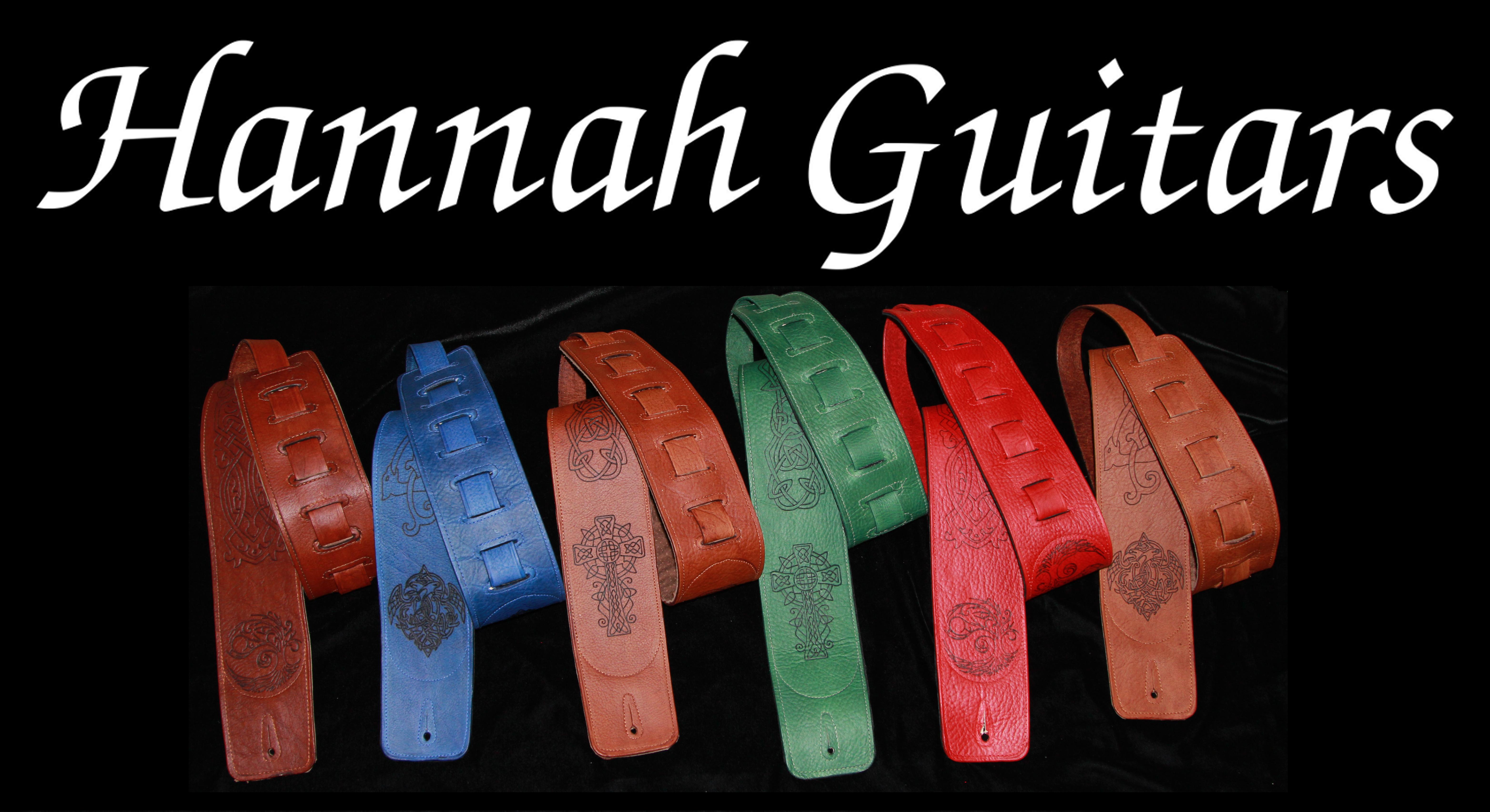 HannahGuitars 7 straps white text