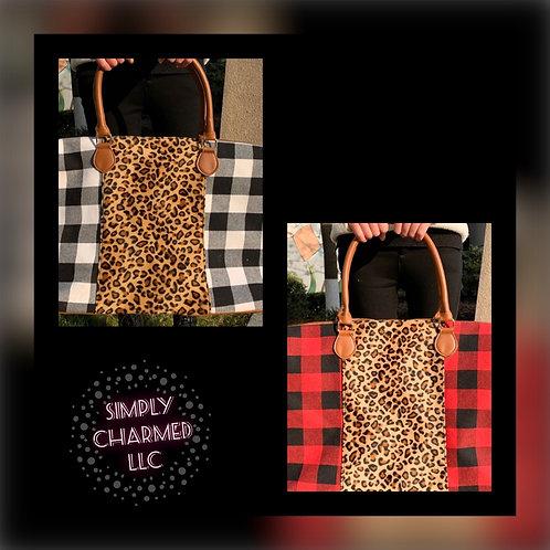 Leopard Plaid Weekender Bag