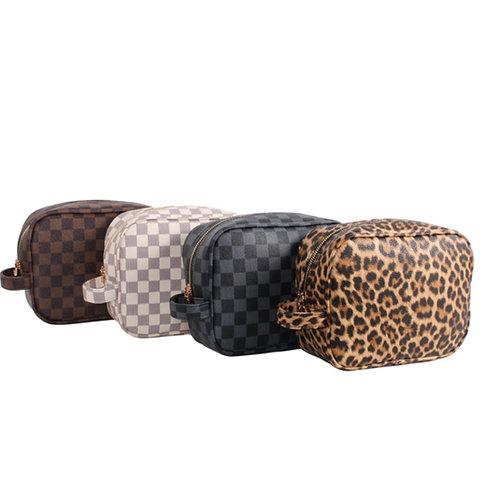 Dream Checkered Make Up Bag
