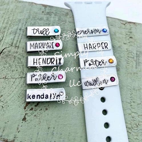 Personalized watch band slides