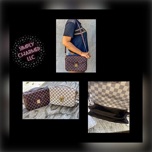 Checkered Messenger Bag