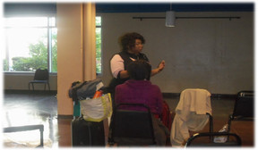 Vernaye ministering to the Overflow women at The Gateway