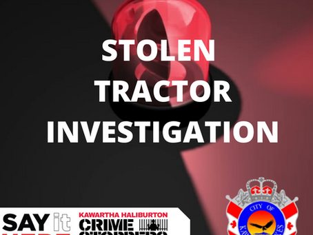 Tractor stolen from Mary Street West business