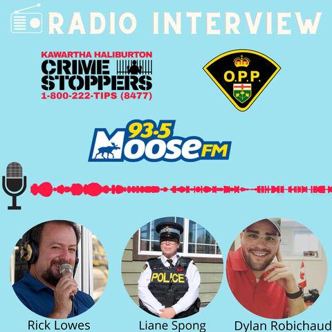 Crime Stoppers Interview on 93.5 Moose FM  Haliburton