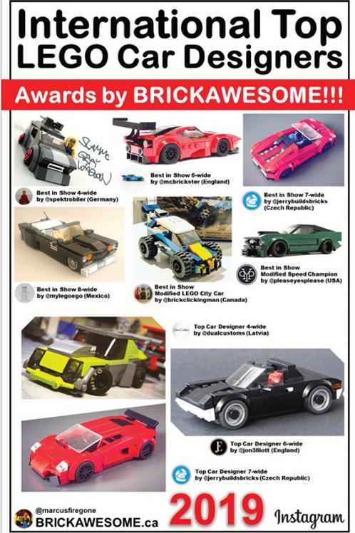 2019 International Top LEGO Car Designers - Awards by BRICKAWESOME!!!
