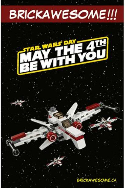 """BRICKAWESOME!!! """"May the 4th be with you"""" Poster"""