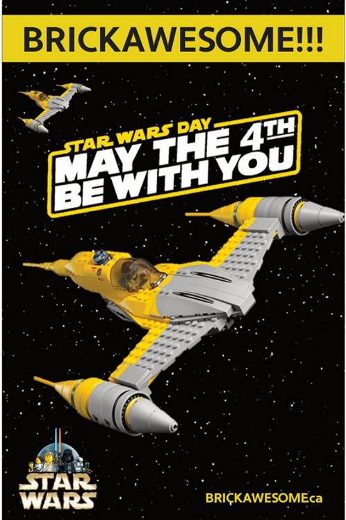 """BRICKAWESOME!!! """"May the 4th be with you"""" Poster II"""