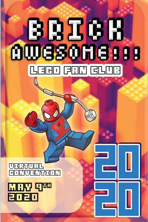 BRICKAWESOME!!! 2020 Poster - by Jonathan Merchant