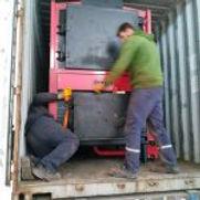 chaudière biomasse Agrazone  - livraison container maritime