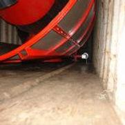 séchoir mobile  Agrazone chargé en containeur maritime