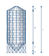 silo / cellule à fond conique