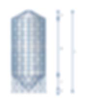 silo / cellule à fond conique