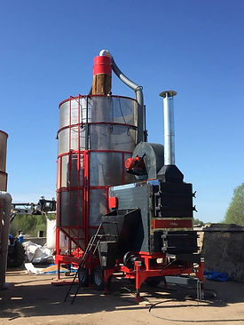 séchoir mobile avec chaudière biomasse Agrazone