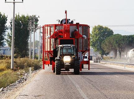 séchoir mobile 75 m3 en déplacement