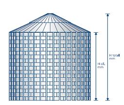 silo / cellule à fond plat