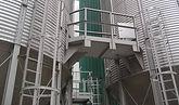 liaison plateforme entre silos / cellules à grain