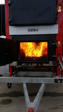 chaudière biomasse  Agrazone en fonctionnement sur séchoir