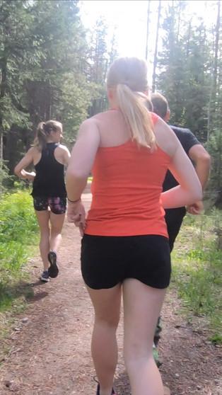 Running near the Tetons
