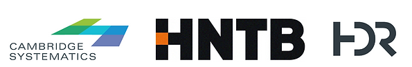 Conference sponsor logos. Sponsors are Cambridge Systematics, HNTB, and HDR