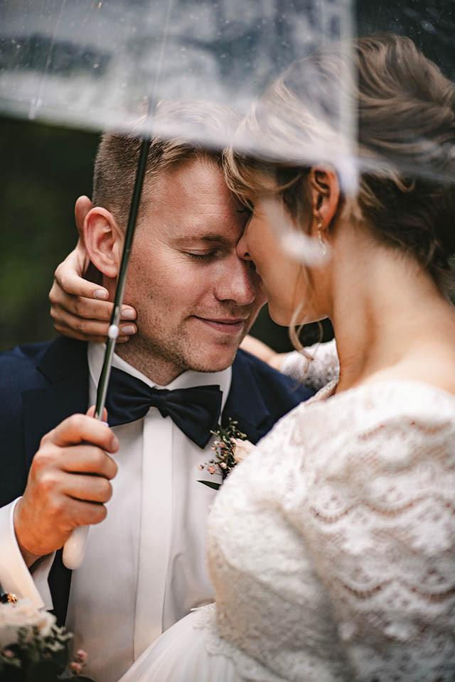 Regenschirm Portrait Hochzeit