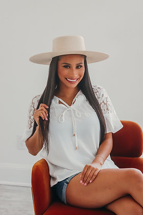 Chasing Sunsets Lace Blouse