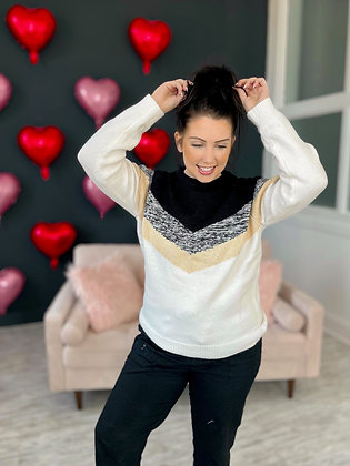 Goal Digger Colorblock Sweater