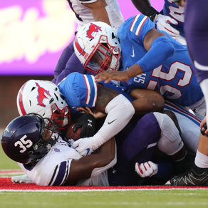SMU crushed the Lumberjacks, 50-7