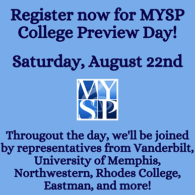 Save the Date_ MYSP College Preview Day!