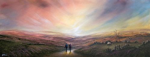 Enjoying A Walk Over The Moors