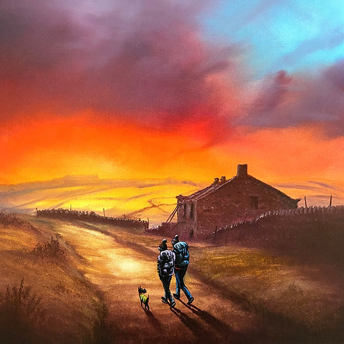 Setting Off Across Haworth Moor Limited Edition Signed Print of 95