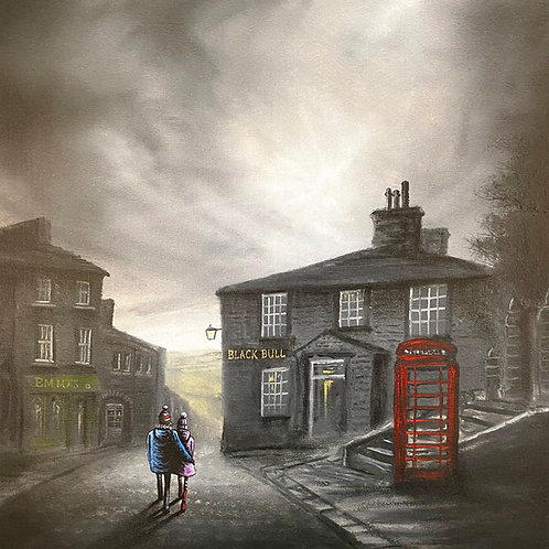 A Stroll Down The Cobbles Limited Edition Signed Print 1 of 95