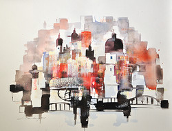 Art185 Salzburg red, white & black