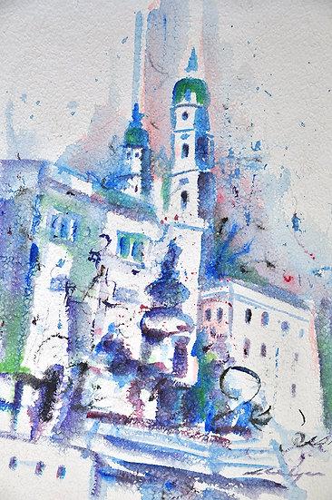 Salzburg in blue