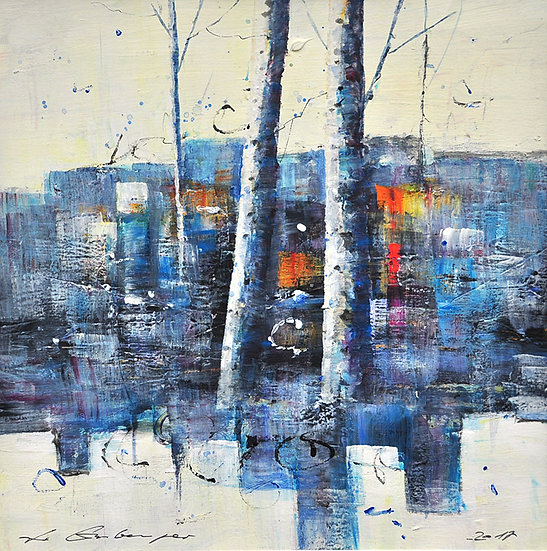 Birken blau - birches blue