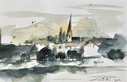 small Art Impression III - village