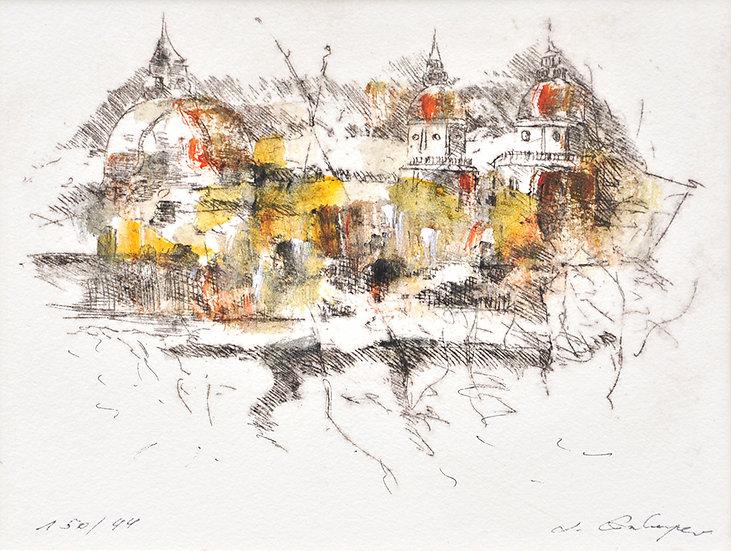 Radierung/edging Salzburg I