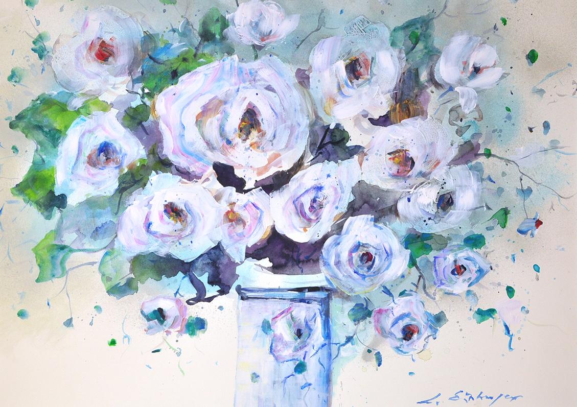 Art 288 white flowers II