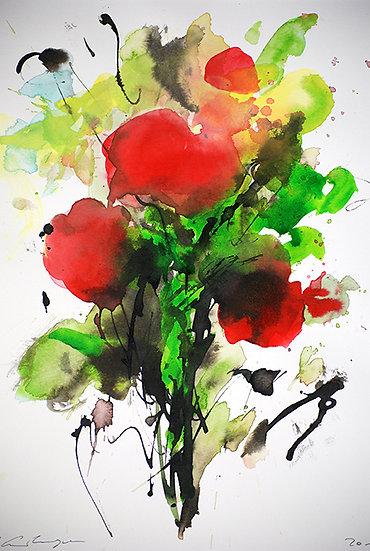 modern red flowers