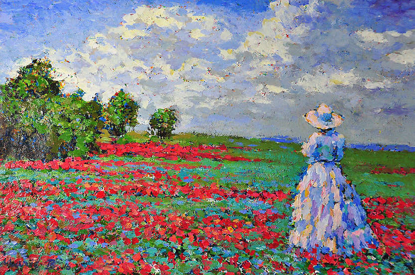 Branko - landscape with woman