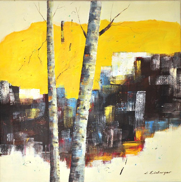 Art286 birches in yellow