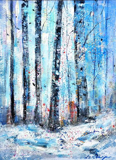 birken blau - birches blue