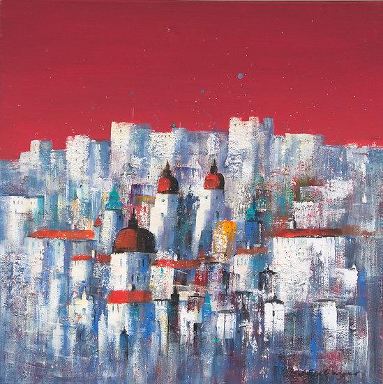Salzburg red on canvas