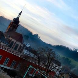 Vue du village depuis Lana.