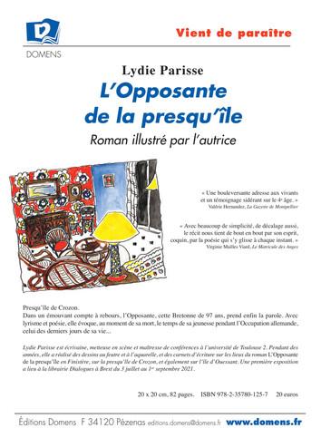 L'Opposante de la presquîle, version illustrée par l'autrice, catalogue d'exposition itinérante