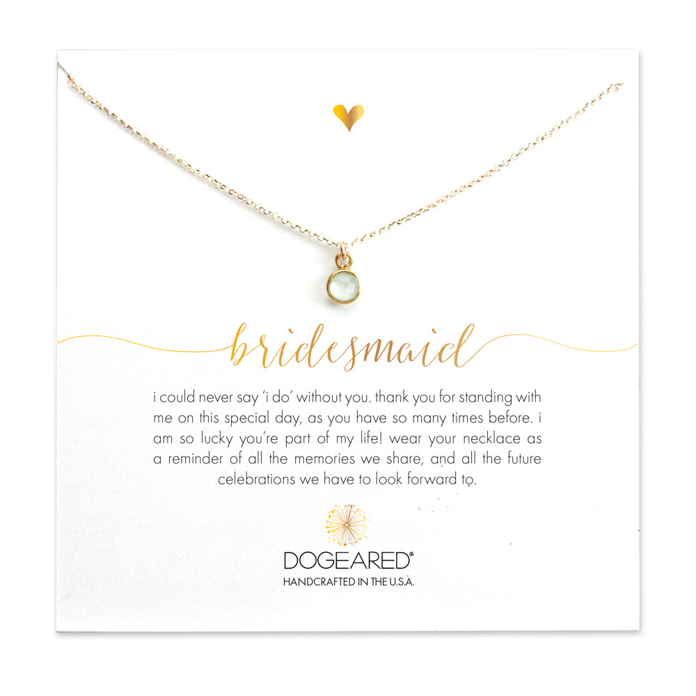 dogeared bridesmaid charm necklace