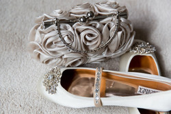 Wedding shoes and clutch
