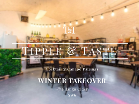 Tipple & Taste Winter pop-up set to launch at Pilango Cider Fulham